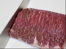 ステーキの大きさに柵取り
